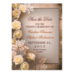save the date wedding vintage postcards