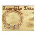 "Save the Date Western Wedding invitation 4.25"" X 5.5"" Invitation Card"