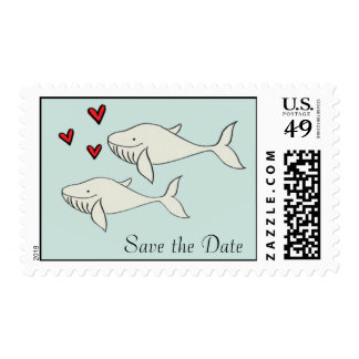 Save the Date Whales Postage