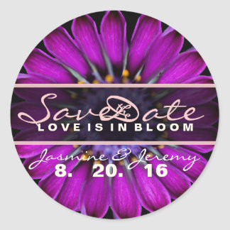 Save the Date Wildflower Stickers