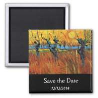 Save the date Willows at Sunset by van Gogh Refrigerator Magnet