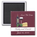 Save The Date Wine Fridge Magnets
