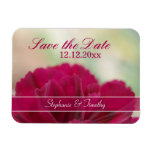 Save the Date wine red flower photography magnet