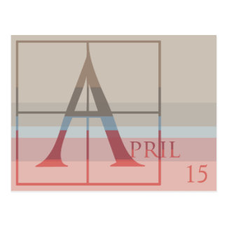 Save the Date with a Very Typographic April Postcard