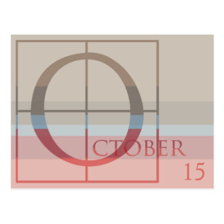 Save the Date with a Very Typographic October Postcard