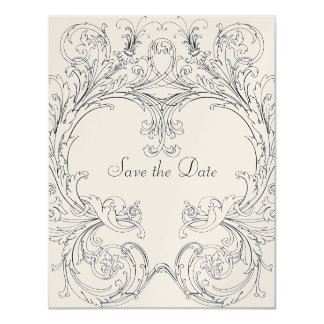 Save the Date with Baroque Frame Card
