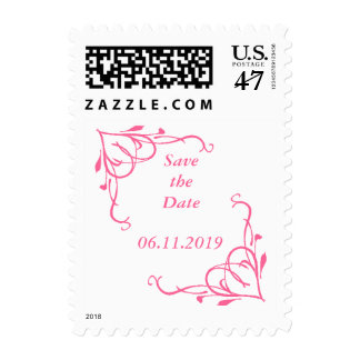 Save the Date with Floral Border Stamp