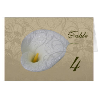 save the date with floral white dew drop lily card