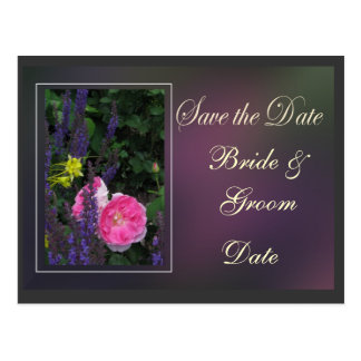 Save the date ... with flowers postcard