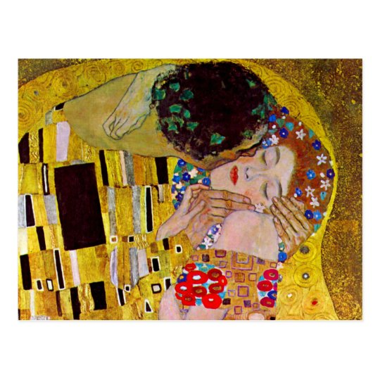 Save the Date with The Kiss by Gustav Klimt Postcard