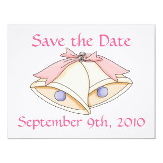 Save the Date with wedding bells Card
