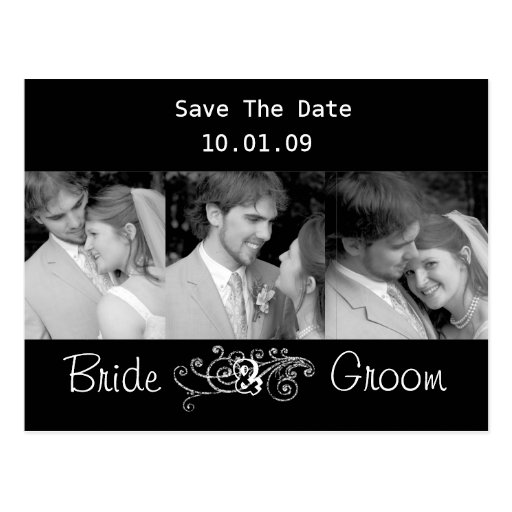 Save The Date with Your Photos Postcard