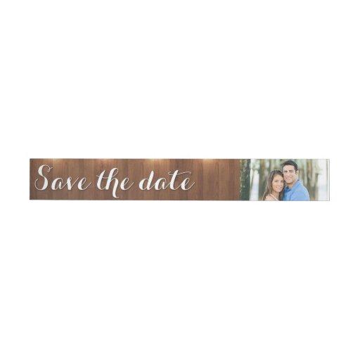 Save The Date Wrap Around Address Label