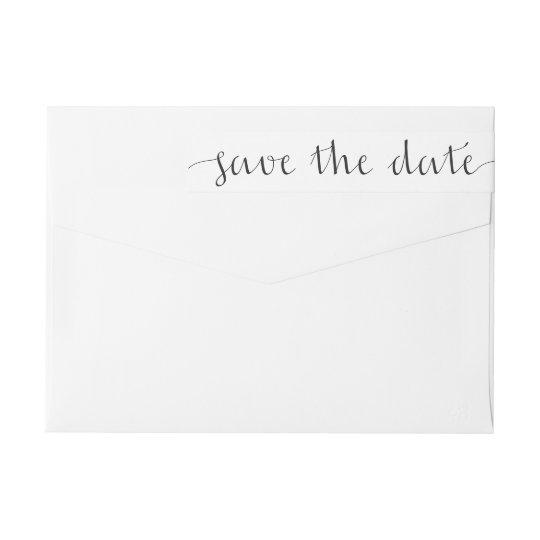 save the date wraparound return address label zazzle com