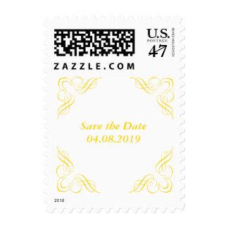 Save the Date Yellow Corner Stamp