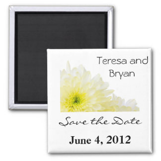 Save the Date yellow flower Magnet