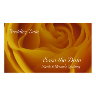 Save the Date Yellow Rose Cards Double-Sided Standard Business Cards (Pack Of 100)