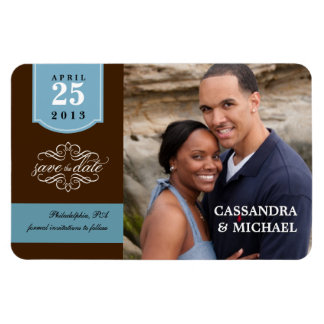 Save the Date - Your Photo Wedding Announcement Rectangular Photo Magnet