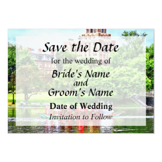 Save the DateBoston MA - Boston Public Garden Card