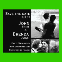 "Save the Dates Customizable Wedding Invitations 4.25"" X 5.5"" Invitation Card"