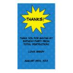 Save the Day Superhero Custom Birthday Favor Tags Business Card Template