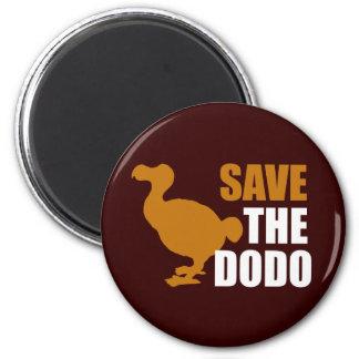 Save The Dodo Bird! 2 Inch Round Magnet