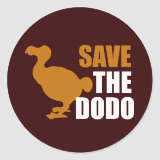 Save The Dodo Bird! Classic Round Sticker