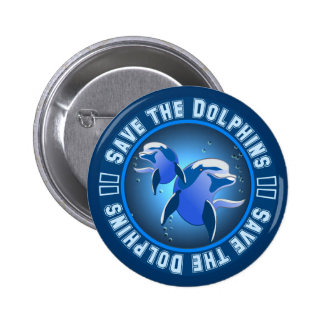 Save the Dolphins 2 Inch Round Button