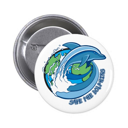 Save the Dolphins Pinback Button