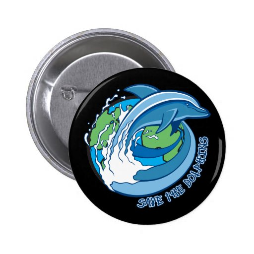 Save the Dolphins Pin