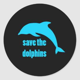 Save the Dolphins Classic Round Sticker
