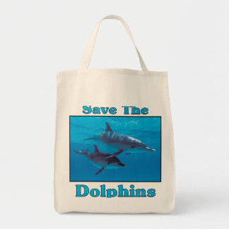 Save the Dolphins Grocery Tote Bag