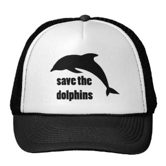 Save the Dolphins Mesh Hats