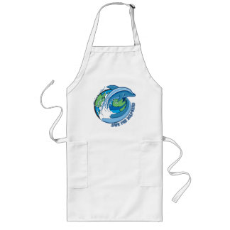 Save the Dolphins Long Apron