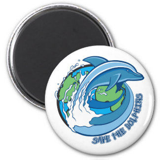 Save the Dolphins Fridge Magnet
