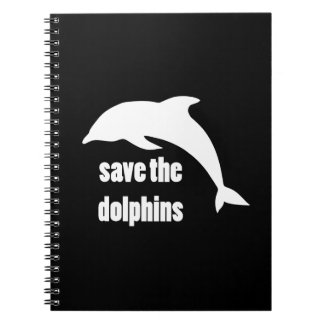 Save the Dolphins Spiral Note Books