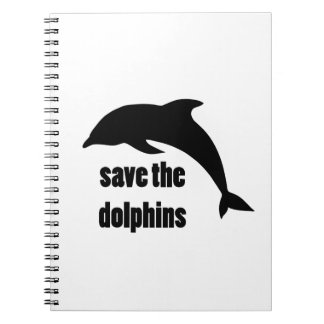 Save the Dolphins Spiral Notebook