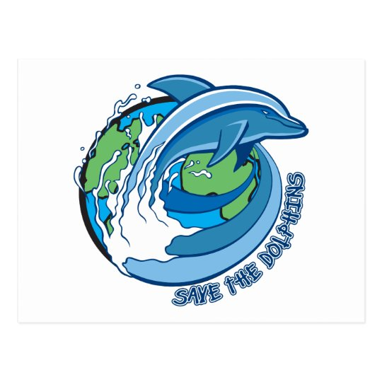 Save the Dolphins Postcard
