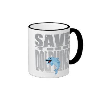 Save the Dolphins Ringer Mug