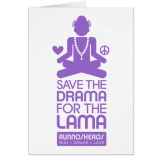 Save the Drama for the Lama - purple Card