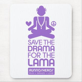 Save the Drama for the Lama - purple Mouse Pad