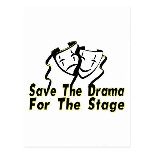 Save The Drama Postcards