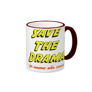 Save the Drama Snappy Saying Ringer Coffee Mug