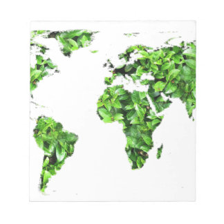 Save the Earth -  World of Leaves Notepad