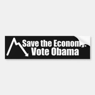 Save the Economy, Vote Obama Bumper Sticker