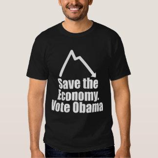 Save the Economy, Vote Obama T Shirt