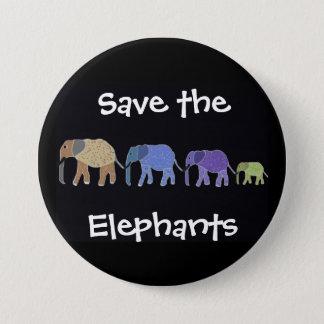 Save the Elelphants Button