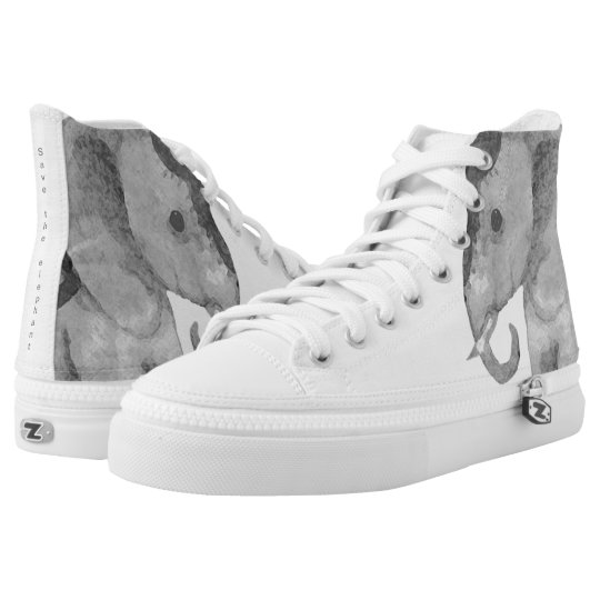White Stylish High-Top Sneakers