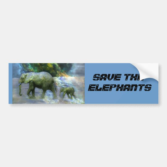 SAVE THE ELEPHANT BUMBER STICKER