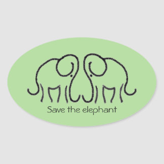Save The Elephant Custom Slogan Ele Logo Sticker